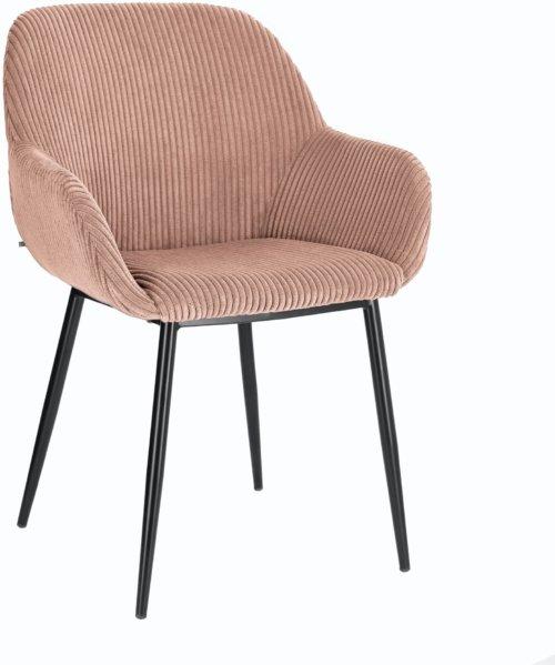 På billedet ser du variationen Konna, Spisebordsstol m. armlæn fra brandet LaForma i en størrelse H: 83 cm. B: 59 cm. L: 55 cm. i farven Lyserød