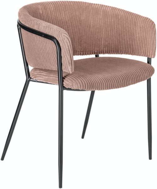 På billedet ser du variationen Runnie, Spisebordsstol m. armlæn, Fløjl fra brandet LaForma i en størrelse H: 73 cm. B: 58 cm. L: 54 cm. i farven Lyserød