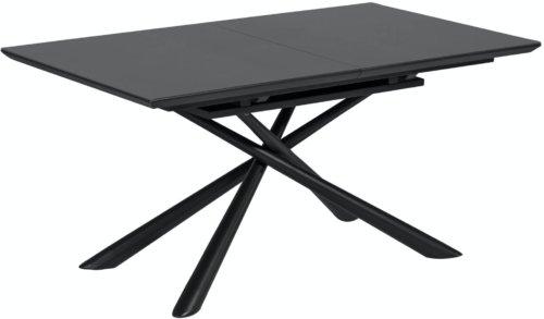 På billedet ser du variationen Theone, Udtrækkeligt spisebord fra brandet LaForma i en størrelse H: 76 cm. B: 210 cm. L: 90 cm. i farven Sort/klar