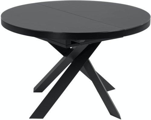 På billedet ser du variationen Vashti, Udtrækkeligt spisebord fra brandet LaForma i en størrelse H: 76 cm. B: 160 cm. L: 120 cm. i farven Sort/klar