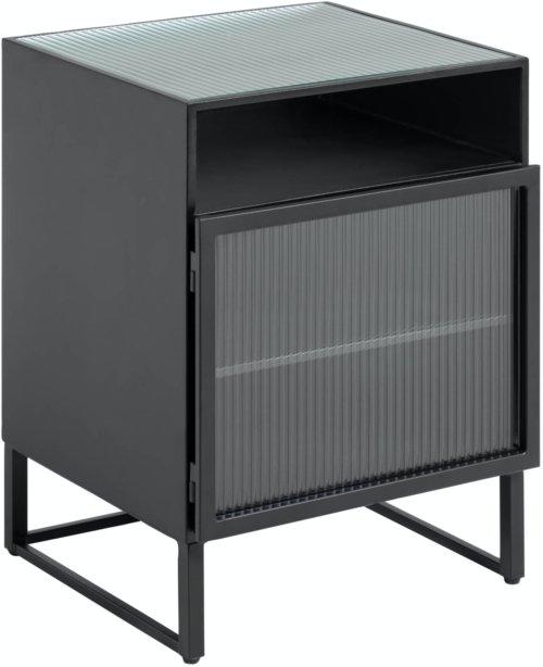 På billedet ser du variationen Trixie, Sengebord, Stål fra brandet LaForma i en størrelse H: 58 cm. B: 45 cm. L: 41 cm. i farven Sort/klar