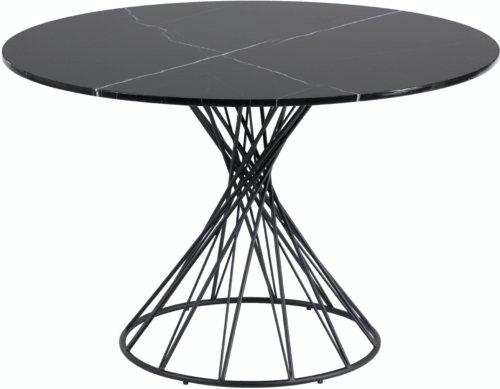 På billedet ser du variationen Niut, Spisebord, Marmor fra brandet LaForma i en størrelse H: 77 cm. B: 120 cm. L: 120 cm. i farven Sort
