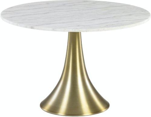 På billedet ser du variationen Oria, Spisebord, Marmor fra brandet LaForma i en størrelse H: 76 cm. B: 120 cm. L: 120 cm. i farven Guld/hvid