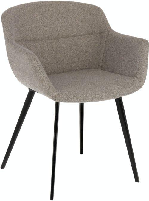På billedet ser du variationen Nadya, Spisebordsstol m. armlæn fra brandet LaForma i en størrelse H: 78 cm. B: 61 cm. L: 58 cm. i farven Grå/sort