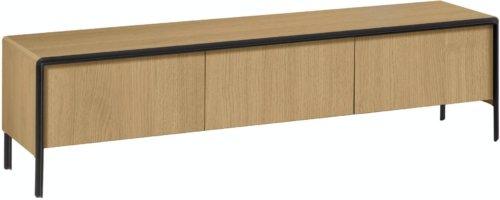 På billedet ser du variationen Nadyria, TV-bord fra brandet LaForma i en størrelse H: 50 cm. B: 180 cm. L: 43 cm. i farven Natur/sort
