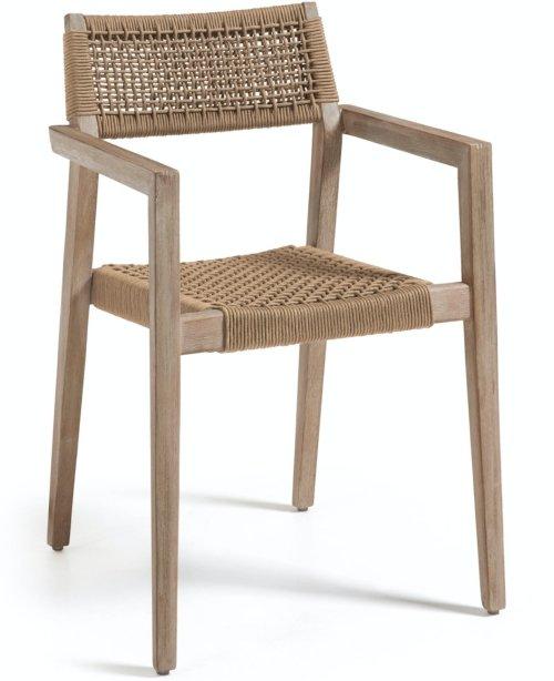 På billedet ser du variationen Vetter, Udendørs spisestol fra brandet LaForma i en størrelse H: 82 cm. B: 57 cm. L: 54 cm. i farven Beige/natur