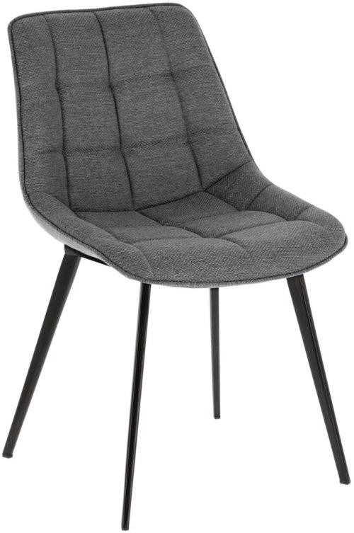 På billedet ser du variationen Adam, Spisebordsstol fra brandet LaForma i en størrelse H: 82 cm. B: 51 cm. L: 59 cm. i farven Grå/sort