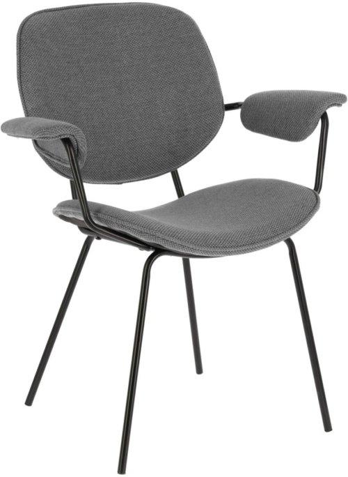 På billedet ser du variationen Naiquen, Spisebordsstol m. armlæn fra brandet LaForma i en størrelse H: 84 cm. B: 69 cm. L: 62 cm. i farven Grå/sort