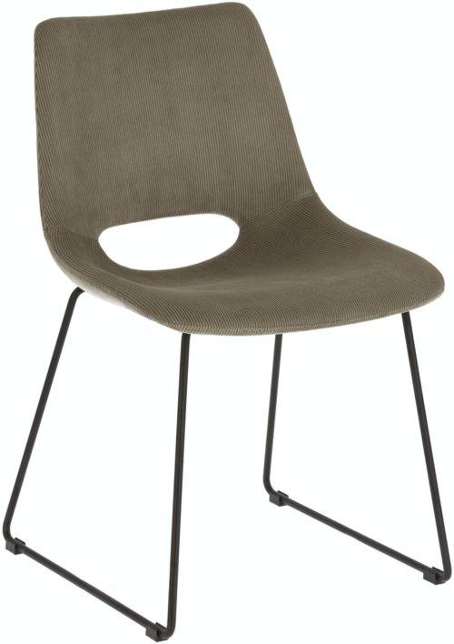 På billedet ser du variationen Zahara, Spisebordsstol fra brandet LaForma i en størrelse H: 78 cm. B: 49 cm. L: 55 cm. i farven Grå/sort