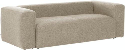På billedet ser du variationen Blok, 3-personers sofa, Stof fra brandet LaForma i en størrelse H: 69 cm. B: 210 cm. L: 100 cm. i farven Beige