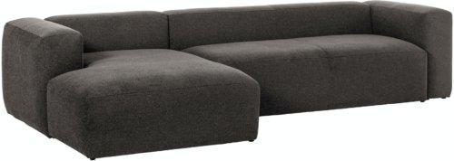 På billedet ser du variationen Blok, Sofa med chaiselong, Venstrevendt, Stof fra brandet LaForma i en størrelse H: 69 cm. B: 330 cm. L: 174 cm. i farven Grå