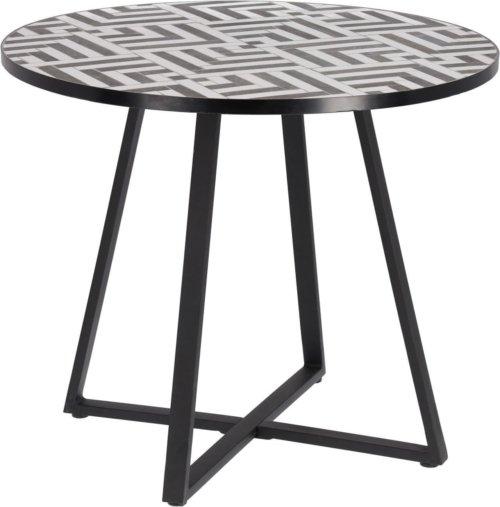 På billedet ser du variationen Tella, Udendørs spisebord fra brandet LaForma i en størrelse H: 76 cm. B: 90 cm. L: 90 cm. i farven Sort hvid