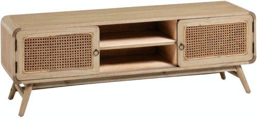 På billedet ser du variationen Nalu, TV-bord, Minditræ fra brandet LaForma i en størrelse H: 50 cm. B: 150 cm. L: 40 cm. i farven Natur