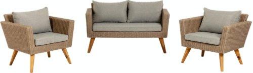 På billedet ser du variationen Sumie, Udendørs sofasæt fra brandet LaForma i en størrelse H: 72 cm. B: 134 cm. L: 68 cm. i farven Brun/grå/natur