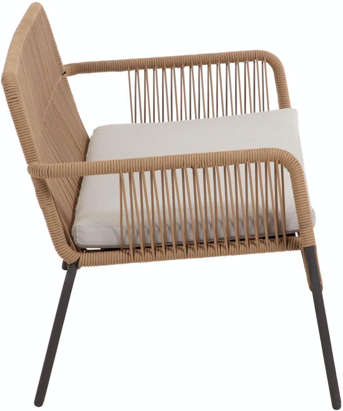 Samanta, Udendørs 2-personers sofa by LaForma (H: 73 cm. B: 133 cm. L: 73 cm., Beige)