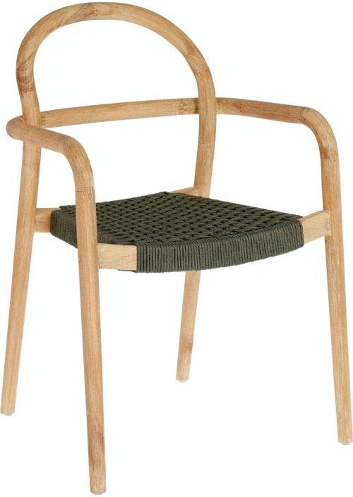 På billedet ser du variationen Sheryl, Udendørs spisestol fra brandet LaForma i en størrelse H: 83 cm. B: 57 cm. L: 56 cm. i farven Natur/grøn