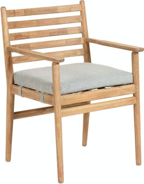 På billedet ser du variationen Simja, Udendørs spisestol fra brandet LaForma i en størrelse H: 82 cm. B: 55 cm. L: 54 cm. i farven Natur/grå