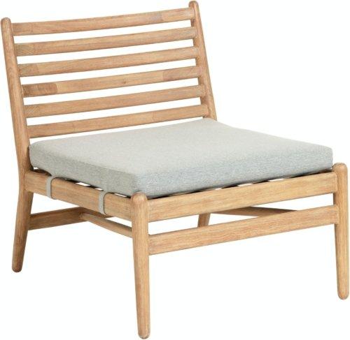 På billedet ser du variationen Simja, Udendørs lænestol fra brandet LaForma i en størrelse H: 71 cm. B: 62 cm. L: 77 cm. i farven Natur/grå