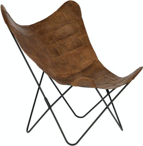 På billedet ser du variationen Fly, Flagermusstol, Læder fra brandet LaForma i en størrelse H: 93 cm. B: 77 cm. L: 100 cm. i farven Natur