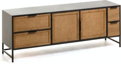 På billedet ser du variationen Kyoko, TV-bord, Cedertræ fra brandet LaForma i en størrelse H: 55 cm. B: 150 cm. L: 40 cm. i farven Sort/natur