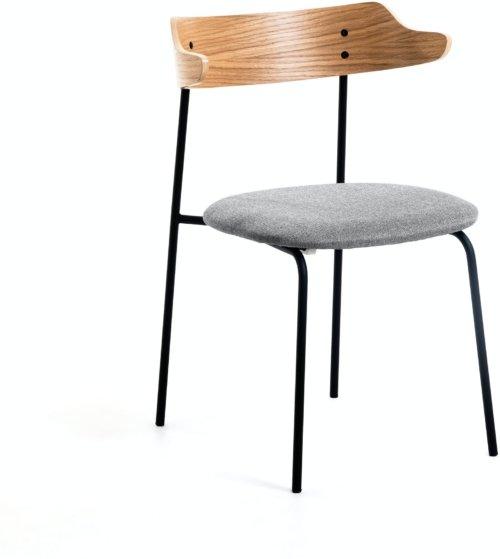 På billedet ser du variationen Olympia, Spisebordsstol fra brandet LaForma i en størrelse H: 75 cm. B: 52 cm. L: 49 cm. i farven Natur/grå/sort