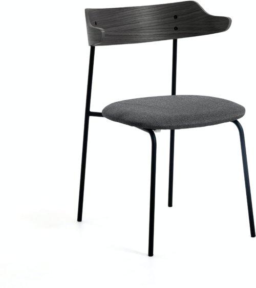 På billedet ser du variationen Olympia, Spisebordsstol fra brandet LaForma i en størrelse H: 75 cm. B: 52 cm. L: 49 cm. i farven Sort/natur