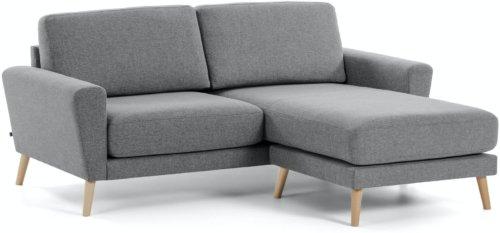 På billedet ser du variationen Narnia, Sofa med chaiselong fra brandet LaForma i en størrelse H: 88 cm. B: 192 cm. L: 160 cm. i farven Grå/natur