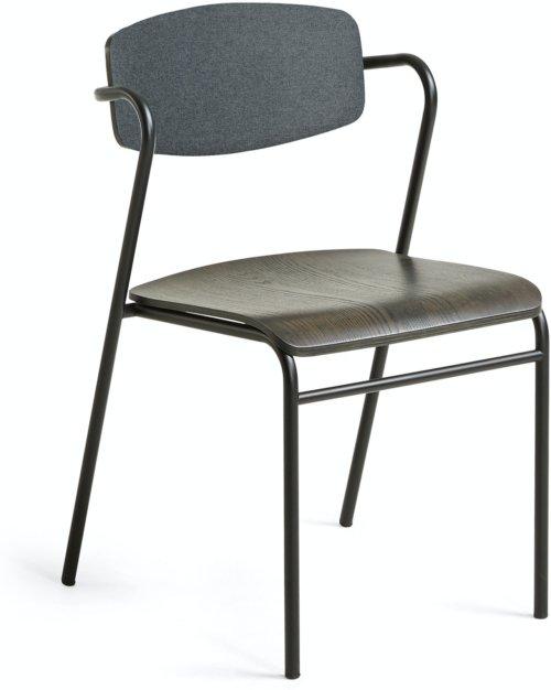 På billedet ser du variationen Milian, Spisebordsstol fra brandet LaForma i en størrelse H: 78 cm. B: 48 cm. L: 49 cm. i farven Sort/natur