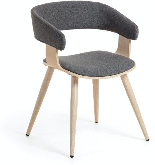 På billedet ser du variationen German, Spisebordsstol m. armlæn fra brandet LaForma i en størrelse H: 72 cm. B: 52 cm. L: 54 cm. i farven Sort/natur
