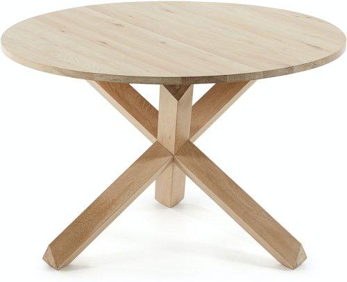 På billedet ser du variationen Lotus, Spisebord, Massiv træ fra brandet LaForma i en størrelse H: 77 cm. B: 120 cm. L: 120 cm. i farven Natur