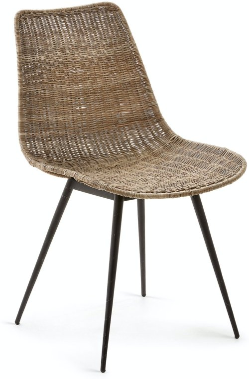 På billedet ser du variationen Emmol, Spisebordsstol fra brandet LaForma i en størrelse H: 83 cm. B: 48 cm. L: 58 cm. i farven Natur/sort