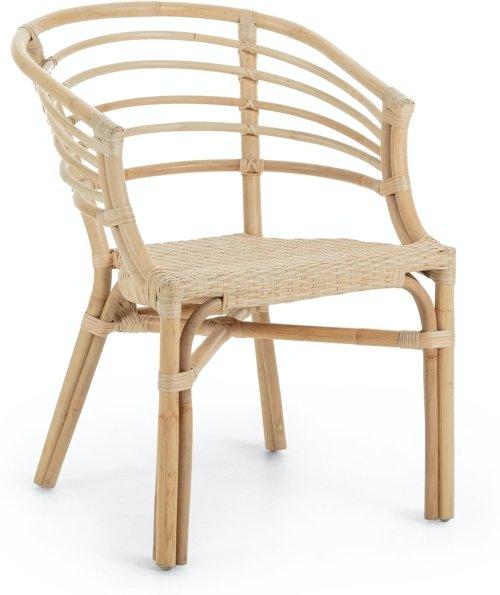 På billedet ser du variationen Dewi, Spisebordsstol m. armlæn fra brandet LaForma i en størrelse H: 76 cm. B: 55 cm. L: 62 cm. i farven Natur