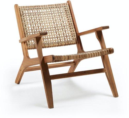 På billedet ser du variationen Rigono, Udendørs lænestol fra brandet LaForma i en størrelse H: 74 cm. B: 68 cm. L: 80 cm. i farven Natur/beige