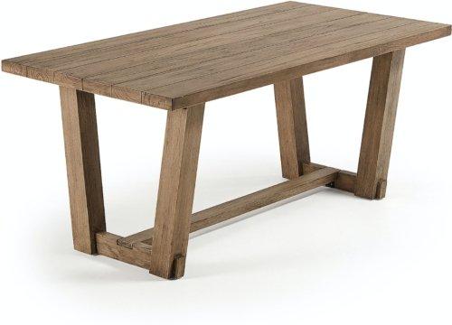 På billedet ser du variationen Glads, Udendørs spisebord fra brandet LaForma i en størrelse H: 76 cm. B: 180 cm. L: 90 cm. i farven Natur
