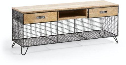 På billedet ser du variationen Aida, TV-bord fra brandet LaForma i en størrelse H: 46 cm. B: 120,5 cm. L: 34 cm. i farven Sort/natur