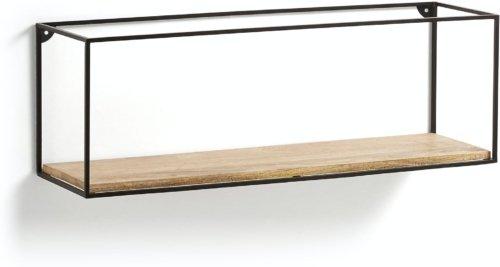 På billedet ser du variationen Elisha, Væghylde fra brandet LaForma i en størrelse H: 30 cm. B: 90 cm. L: 26 cm. i farven Natur/sort