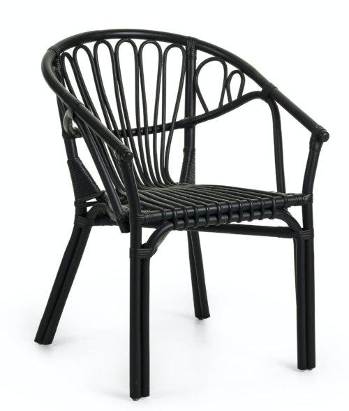 På billedet ser du variationen Ganga, Spisebordsstol m. armlæn fra brandet LaForma i en størrelse H: 77 cm. B: 56 cm. L: 60 cm. i farven Sort