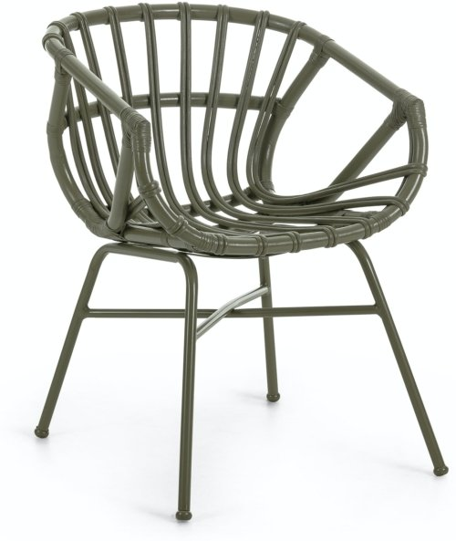 På billedet ser du variationen Kaly, Spisebordsstol m. armlæn fra brandet LaForma i en størrelse H: 73 cm. B: 55 cm. L: 58 cm. i farven Grøn