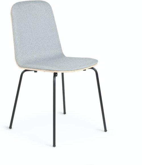 På billedet ser du variationen Canele, Spisebordsstol fra brandet LaForma i en størrelse H: 84 cm. B: 48 cm. L: 58 cm. i farven Grå/natur/sort