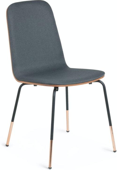 På billedet ser du variationen Canele, Spisebordsstol fra brandet LaForma i en størrelse H: 84 cm. B: 48 cm. L: 58 cm. i farven Sort/natur