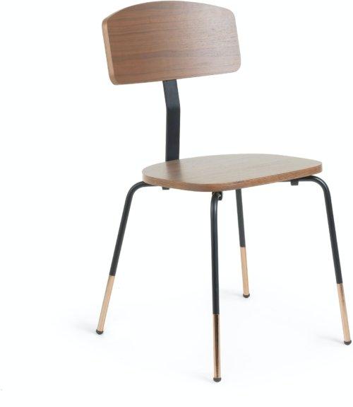 På billedet ser du variationen Oyaka, Spisebordsstol fra brandet LaForma i en størrelse H: 82 cm. B: 43 cm. L: 49 cm. i farven Natur/sort/guld