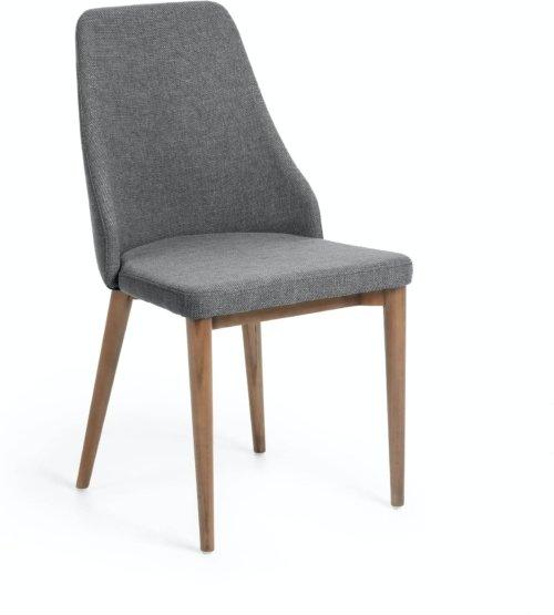 På billedet ser du variationen Rosie, Spisebordsstol fra brandet LaForma i en størrelse H: 89 cm. B: 49 cm. L: 56 cm. i farven Sort/natur