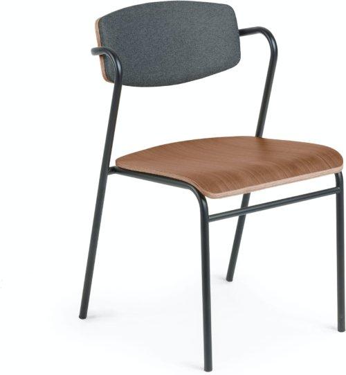 På billedet ser du variationen Zaha, Spisebordsstol fra brandet LaForma i en størrelse H: 78 cm. B: 48 cm. L: 49 cm. i farven Natur/sort