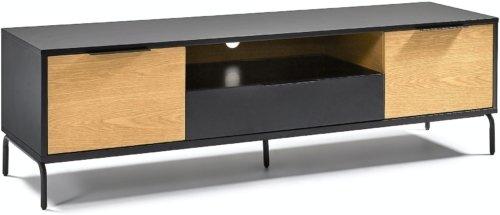 På billedet ser du variationen Stellar, TV-bord fra brandet LaForma i en størrelse H: 50 cm. B: 170 cm. L: 45 cm. i farven Sort/natur