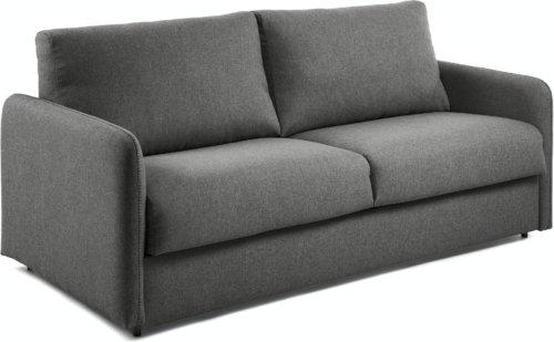 På billedet ser du variationen Kymoon, 2-personers sovesofa, Stof fra brandet LaForma i en størrelse H: 92 cm. B: 182 cm. L: 95 cm. i farven Sort