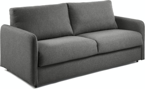 På billedet ser du variationen Kymoon, 3-personers sovesofa, Stof fra brandet LaForma i en størrelse H: 92 cm. B: 202 cm. L: 95 cm. i farven Sort