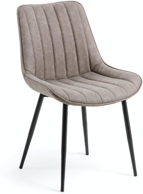 På billedet ser du variationen Janis, Spisebordsstol fra brandet LaForma i en størrelse H: 82 cm. B: 53 cm. L: 60 cm. i farven Grå/sort
