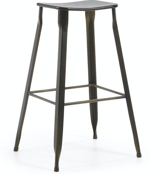 På billedet ser du variationen Gluke, Udendørs barstol fra brandet LaForma i en størrelse H: 78 cm. B: 50 cm. L: 43 cm. i farven Sort