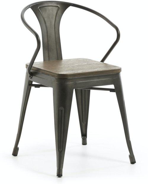 På billedet ser du variationen Malira, Spisebordsstol m. armlæn fra brandet LaForma i en størrelse H: 80 cm. B: 51 cm. L: 57 cm. i farven Sort/natur