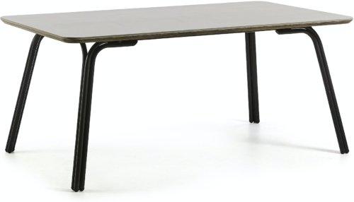 På billedet ser du variationen Newport, Udendørs spisebord fra brandet LaForma i en størrelse H: 76 cm. B: 180 cm. L: 100 cm. i farven Grå/sort